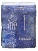 1911 Mechanical Skeleton Patent Blue Duvet Cover