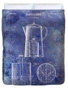 1921 Coffee Pot Patent Duvet Cover