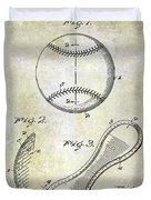 1924 Baseball Patent Duvet Cover