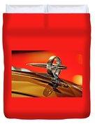 1947 Buick Roadmaster Hood Ornament Duvet Cover