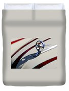 1949 Custom Buick Hood Ornament Duvet Cover