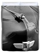 1949 Studebaker Champion Hood Ornament Duvet Cover