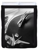 1954 Chrysler Imperial Sedan Hood Ornament 3 Duvet Cover