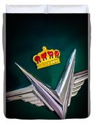 1954 Chrysler Imperial Sedan Hood Ornament Duvet Cover