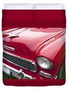 1955 Chevrolet Bel Air Hood Ornament Duvet Cover