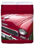 1955 Chevrolet Bel Air Hood Ornament Duvet Cover