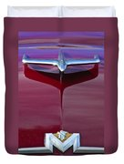 1956 Mercury Hood Ornament Duvet Cover