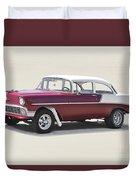 1956 Chevrolet 210 Coupe 'gasser Style' Duvet Cover
