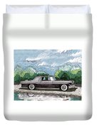 1956  Lincoln Continental Mk II Duvet Cover