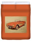1957 Corvette Duvet Cover