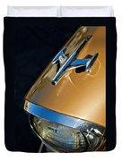 1957 Oldsmobile Super 88 Hood Ornament Duvet Cover