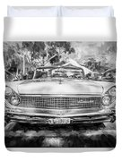 1959 Lincoln Continental Town Car Mk Iv Painted Bw Duvet Cover