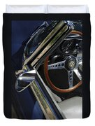1963 Jaguar Xke Roadster Steering Wheel Duvet Cover