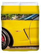 2013 Chevrolet Corvette Zo6 Painted Bw  Duvet Cover