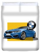 2016  B M W  M 3  Sedan With 3 D Badge  Duvet Cover