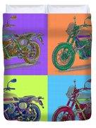 2016 Moto Guzzi V7ii Stornello - Warhol Style Duvet Cover