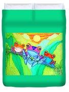 3 Little Frogs Duvet Cover