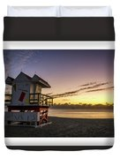 7901- Miami Beach Sunrise  Duvet Cover
