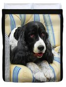 #940 D1031 Farmer Browns Springer Spaniel Duvet Cover