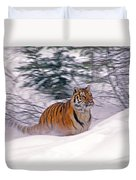A Blur Of Tiger Duvet Cover
