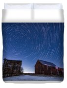 A Cold Winter Night Duvet Cover