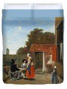 A Dutch Courtyard Duvet Cover