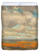 A Field Of California Poppies Duvet Cover