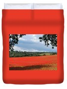 A Field Of Red Poppies Duvet Cover