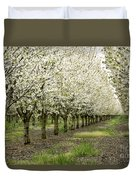 A Flowering Cherry Orchard Duvet Cover