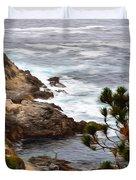 A Grey Day At Big Sur 2 Duvet Cover