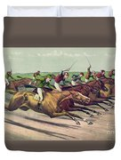 A Head And Head Finish  Duvet Cover