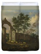 A Landscape With A Ruined Archway Duvet Cover