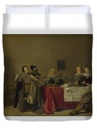 A Merry Company At Table Duvet Cover