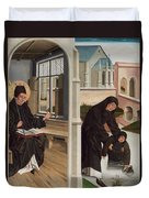 A Miracle Of Saint Benedict Duvet Cover