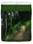 A Path In Paradise Duvet Cover