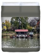 A Raft House Moored To The Shoreline Of Ada Medjica Islet Duvet Cover