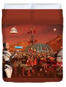 A Robot And Landing Craft Making Duvet Cover
