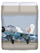 A Romanian Air Force Mig-21c Taking Duvet Cover