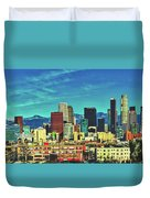 A Slice Of Los Angeles Duvet Cover