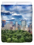 A Summer Day In Boston Duvet Cover