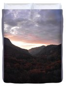 A Sunset View Through A Valley In The Southwest Foothills Of The Sierra Nevadas Duvet Cover