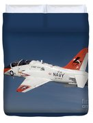 A T-45c Goshawk Training Aircraft Duvet Cover
