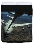 A U.s. Air Force E-3 Sentry Aircraft Duvet Cover by Stocktrek Images