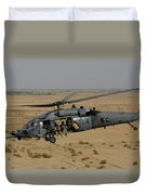 A U.s. Air Force Hh-60 Pavehawk Flies Duvet Cover