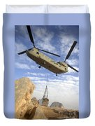 A U.s. Army Ch-47 Chinook Helicopter Duvet Cover