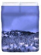A Utah Winter Duvet Cover