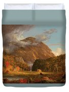 A View Of The Mountain Pass Called The Notch Of The White Mountains, Crawford Notch Duvet Cover