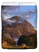 A View Of The Mountain Pass Called The Notch Of The White Mountains Duvet Cover
