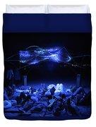 Ab Artwork At Night Duvet Cover