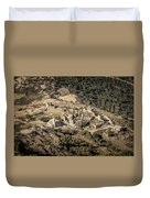 Abandoned Village Of Occi And The Coast Of Corsica Duvet Cover